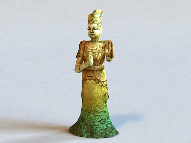 Tang Dynasty Buddha Statue 3d model