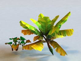 Tropical Plant Low Poly 3d preview
