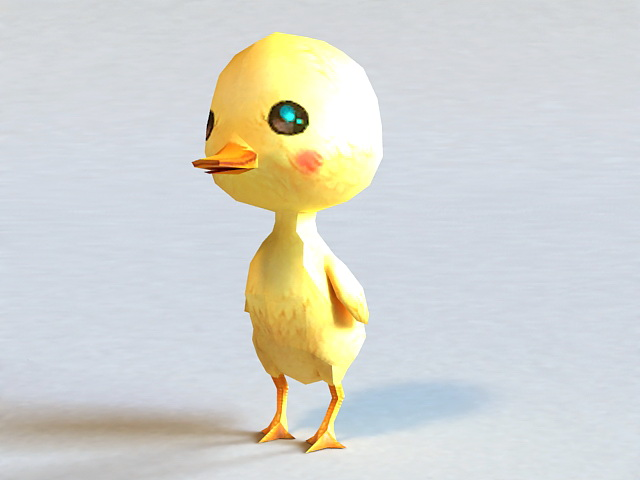 Cartoon Duckling 3d model
