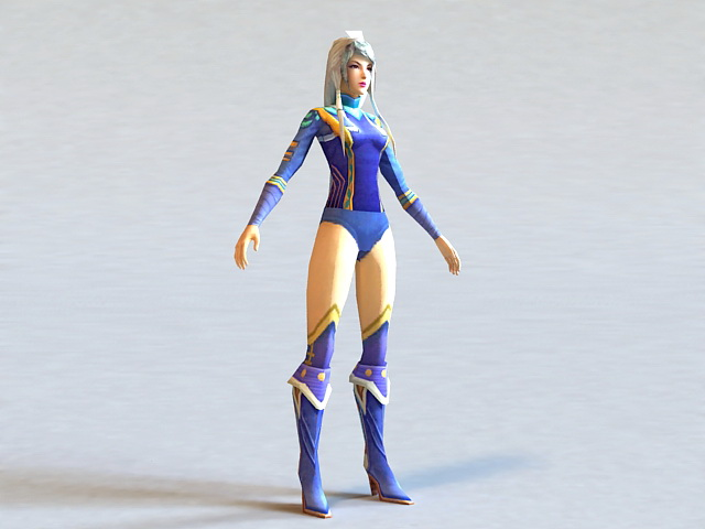 Mysterious Warrior Girl 3d model