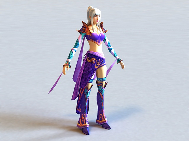 Dynasty Warriors Female Character 3d Model 3ds Max Files