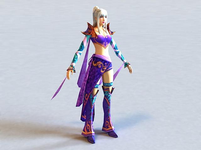 Dynasty Warriors Female Character 3d model