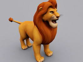 Simba The Lion King Character 3d model