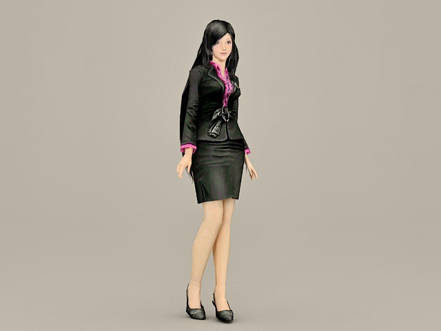 Fashion Office Lady 3d model