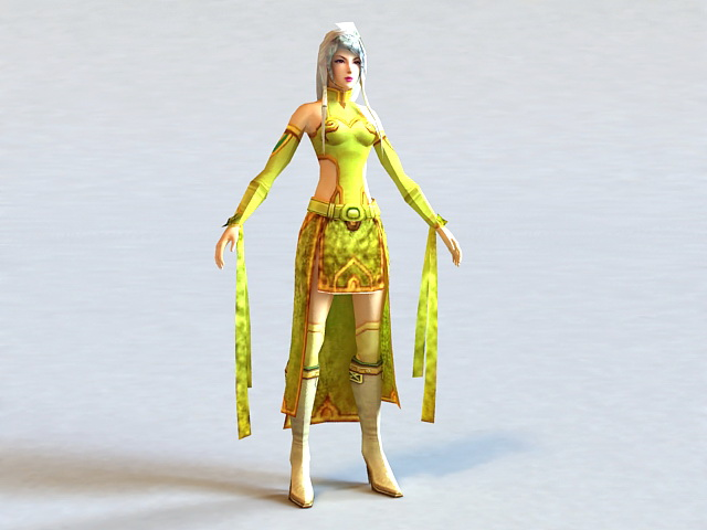 Tang Dynasty Clothing Woman 3d model