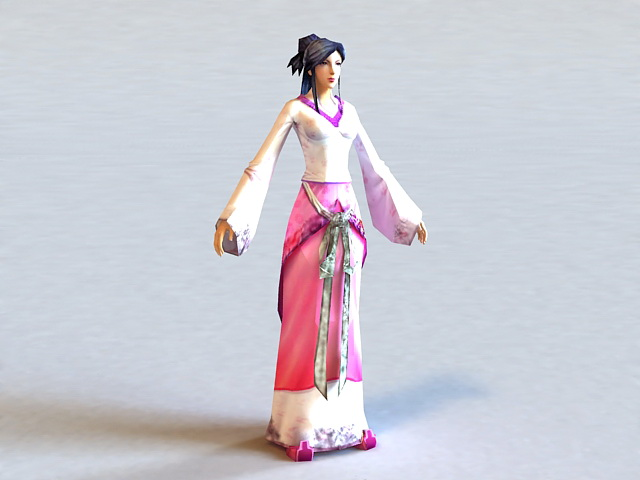 Han Dynasty Woman 3d model