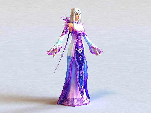 Fantasy Ancient Princess 3d Model 3ds Max Files Free