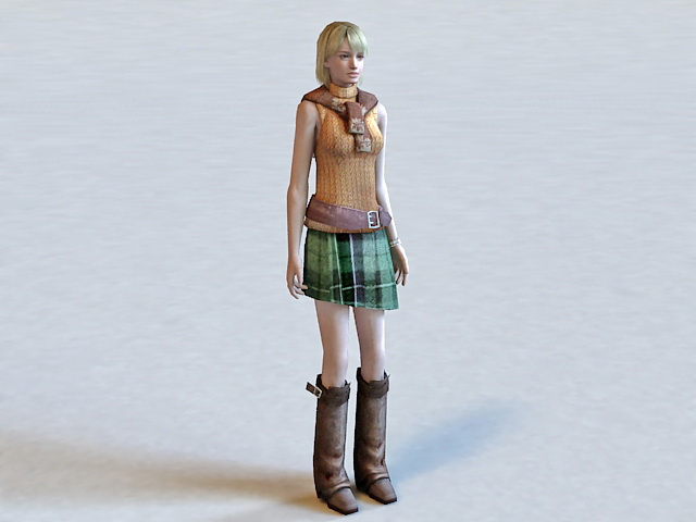 Ashley Graham Resident Evil Character 3d model