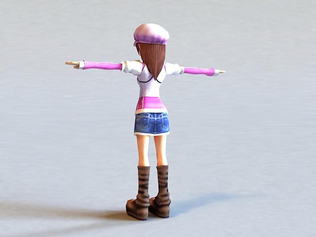 Little Girl Princess 3d model 3ds Max,Autodesk FBX files