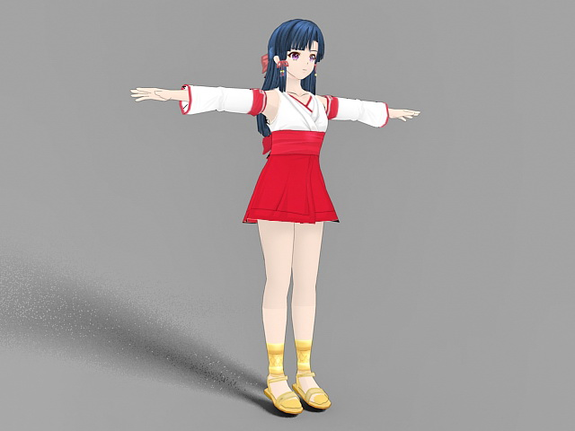 Cute Anime Girl 3d model