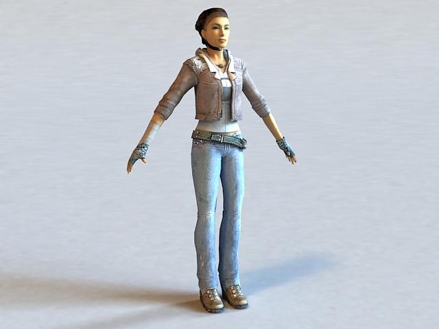 Alyx Vance Half-Life Character 3d model