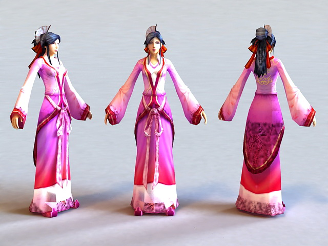 Ming Dynasty Woman 3d model