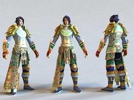 Green Armor Warrior 3d model