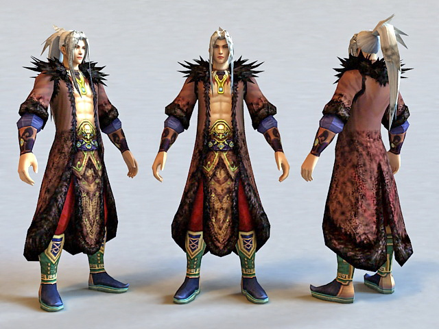 Fantasy Man Handsome Guy 3d model