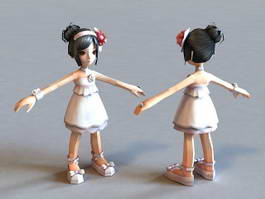Little Anime Girl 3d model