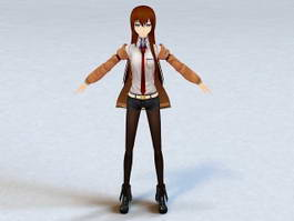 Animated Anime Dancing Girl Rigged 3d model