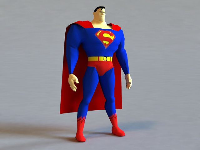 Superman Cartoon 3d Model 3ds Max Files Free Download