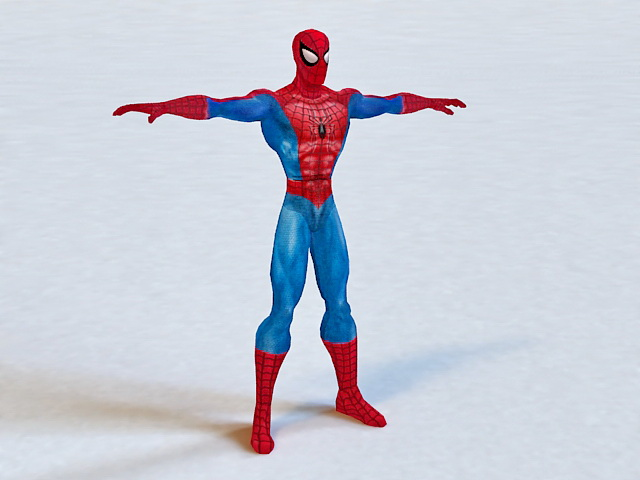 Spider Man 3d Model 3ds Max Files Free Download Modeling