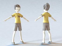 Cute Anime Boy Character 3d model