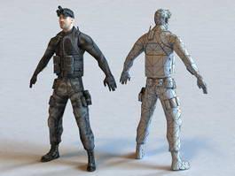 Marine Commando 3d model