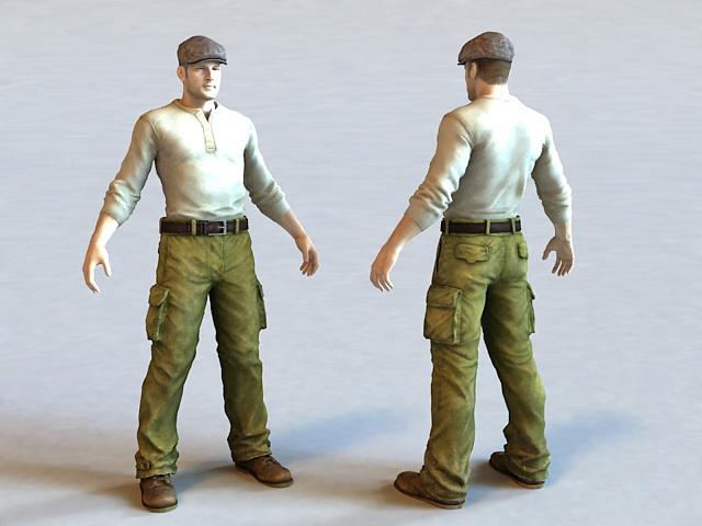 Mechanic Man 3d model