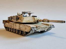M1A1 Battle Tank 3d model