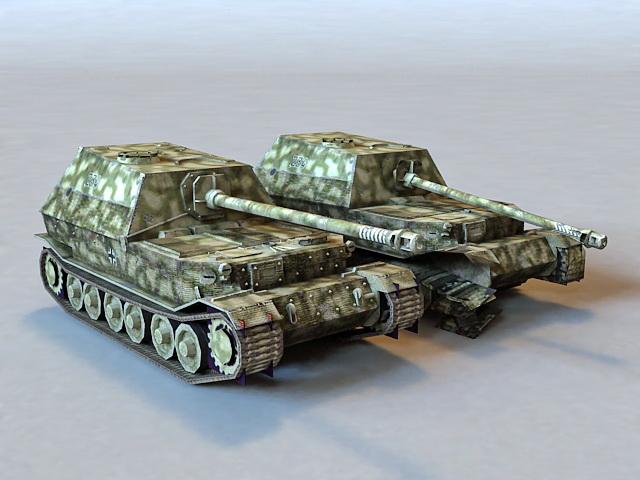 Elefant Tank Destroyer 3d model