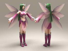 Purple Fairy 3d model