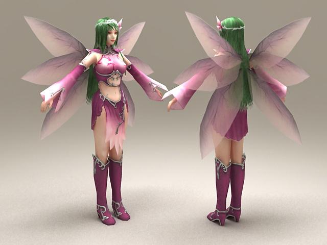 Purple Fairy 3d model