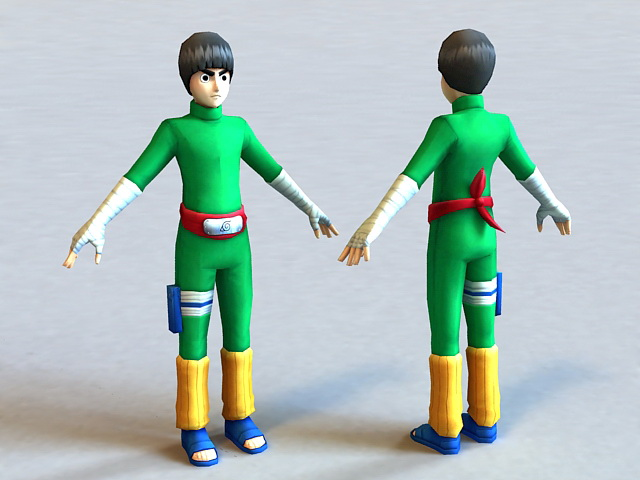Naruto Rock Lee 3d model