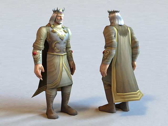 King Terenas Menethil 3d model 3ds Max files free download ...