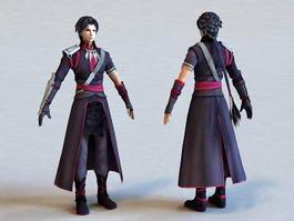 Anime Vampire Guy 3d model