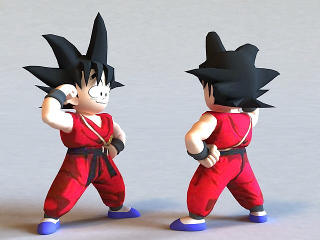 dragon ball kid goku 3d model 3ds max files free download