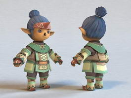 Elf Chibi Boy 3d model