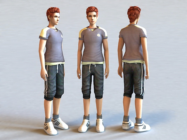 Handsome Boy 3d model