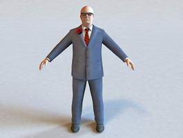 Prison Warden 3d model