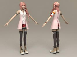 Realistic Girl Character 3d model