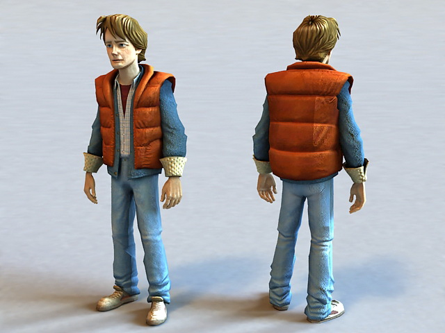 Martin Marty McFly 3d model