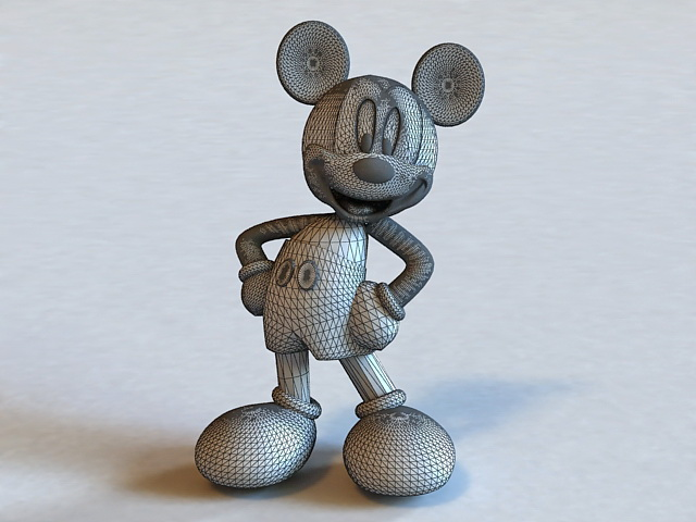 Mickey Mouse 3d Model Object Files Free Download