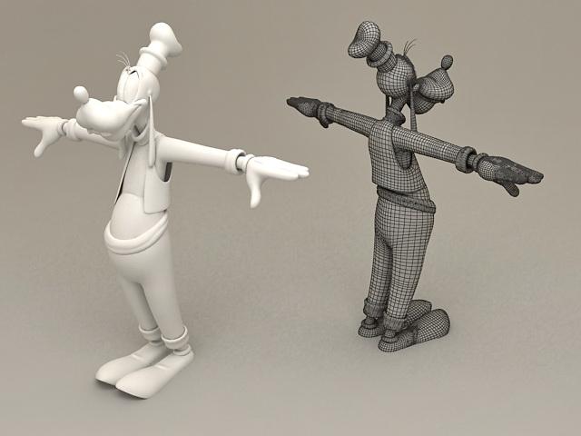 Disney Characters Goofy 3d Model 3ds Max Files Free