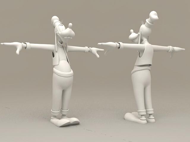 Disney Characters Goofy 3d model