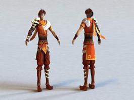 CG Anime Guy 3d model