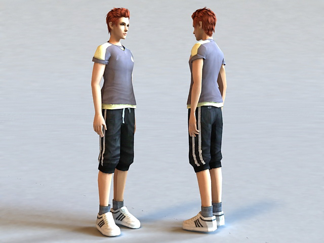 Guy with Red Hair 3d model