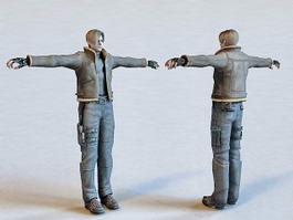 Leon S. Kennedy Resident Evil Character 3d model