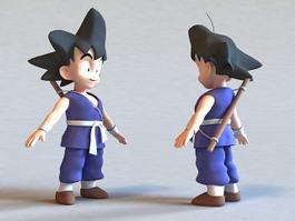 Dragon Ball GT Goku 3d model