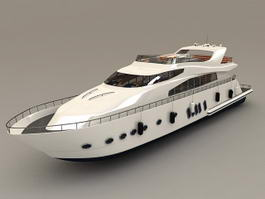 Luxury Yacht Boat 3d model