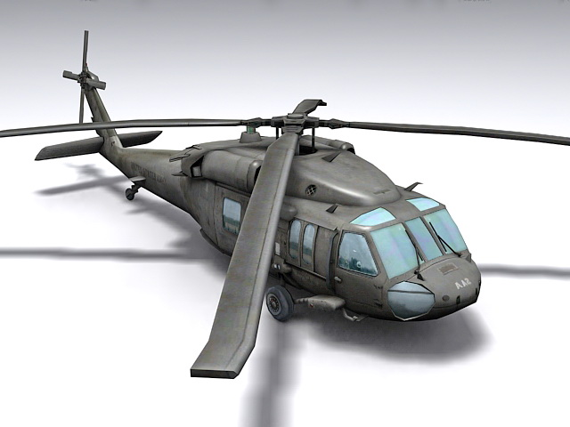 Black Hawk Helicopter 3d model