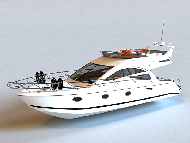 Small Yacht 3d Model 3ds Max Files Free Download