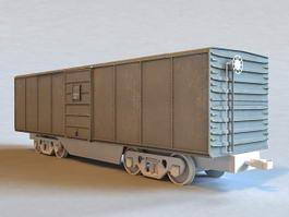 Train Boxcar 3d model