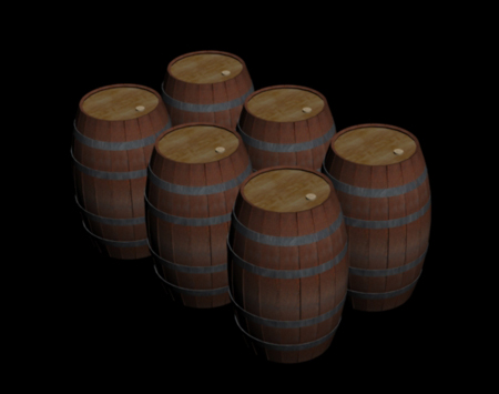 Old Wooden Barrel Cart 3d Model 3ds Max Object Files Free